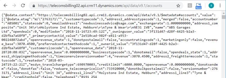 Querying Dynamics 365 OData