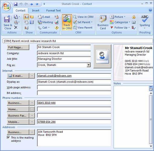 outlook template form