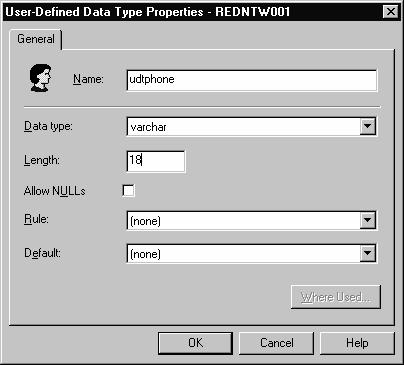 SQL Server 2000 Database Definition