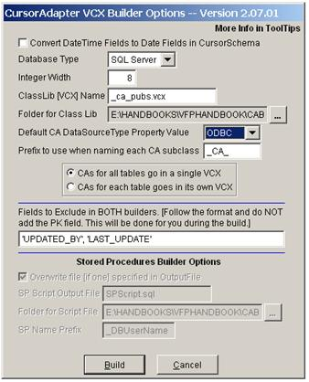 Visual FoxPro Cursor Adaptor